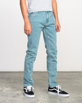 5 Stay RVCA Denim Jeans Blue M303NRST RVCA