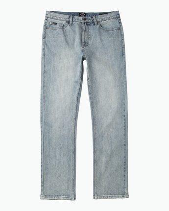 6 Daggers Slim-Straight Jeans Beige M303QRDA RVCA