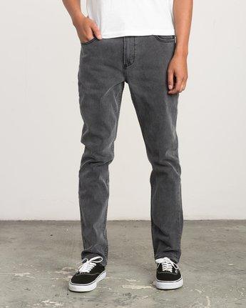0 Daggers Slim-Straight Jeans Grey M303QRDA RVCA