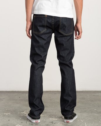 3 Hexed Slim Fit Denim Jeans Blue M304QRHD RVCA