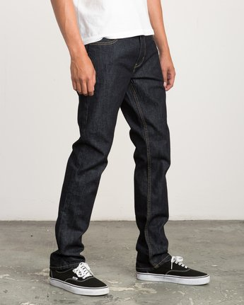 5 Hexed Slim Fit Denim Jeans Blue M304QRHD RVCA