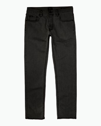 6 Hexed Slim Fit Denim Jeans Black M305QRHD RVCA
