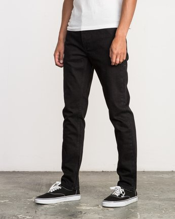 1 Hexed Slim Fit Denim Jeans Black M305QRHD RVCA