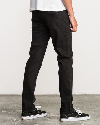 4 Hexed Slim Fit Denim Jeans Black M305QRHD RVCA
