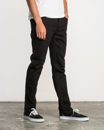 5 Hexed Slim Fit Denim Jeans Black M305QRHD RVCA