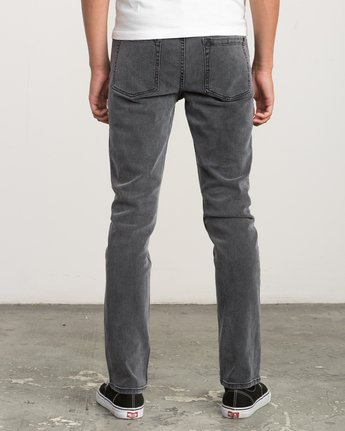 3 Hexed Slim Fit Denim Jeans Grey M305QRHD RVCA