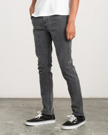 1 Hexed Slim Fit Denim Jeans Grey M305QRHD RVCA