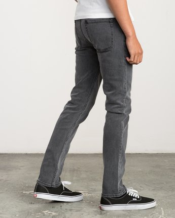 4 Hexed Slim Fit Denim Jeans Grey M305QRHD RVCA