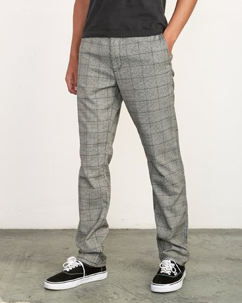 0 Daggers Slim-Straight Jax Pants Grey M305VRDC RVCA