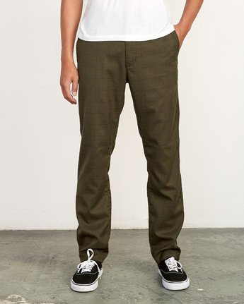 0 Daggers Slim-Straight Jax Pants Green M305VRDC RVCA