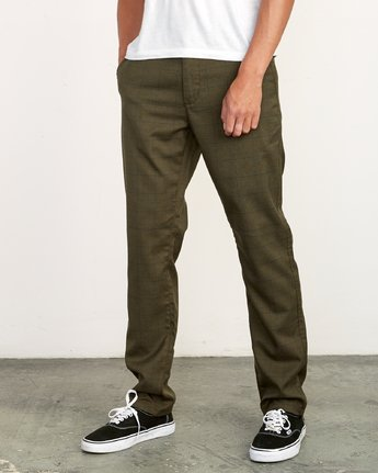 1 Daggers Slim-Straight Jax Pants Green M305VRDC RVCA
