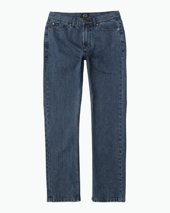 6 Hexed Slim Fit Denim Jeans Blue M306QRHD RVCA