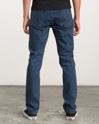 3 Hexed Slim Fit Denim Jeans Blue M306QRHD RVCA