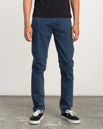 0 Hexed Slim Fit Denim Jeans Blue M306QRHD RVCA