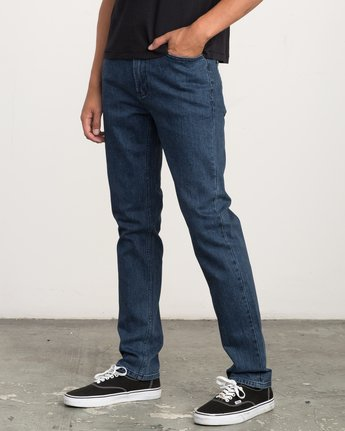 1 Hexed Slim Fit Denim Jeans Blue M306QRHD RVCA