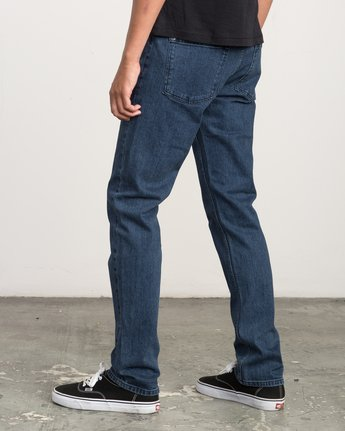 2 Hexed Slim Fit Denim Jeans Blue M306QRHD RVCA