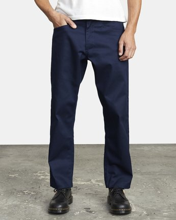 1 NEW DAWN PRESSED PANT Blue M3073RPR RVCA