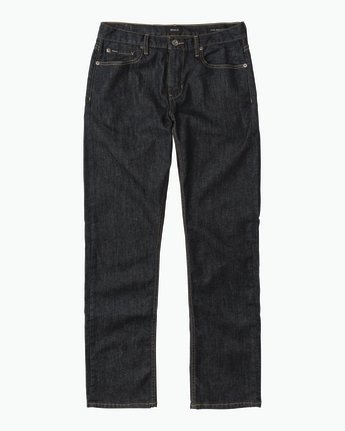 6 Stay RVCA Straight Fit Denim Jeans Blue M307QRSR RVCA