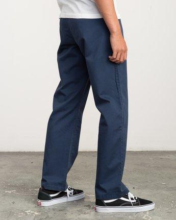 4 Big RVCA Chino Pant Blue M308QRBR RVCA