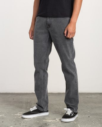 1 Stay RVCA Straight Fit Denim Jeans Grey M308QRSR RVCA