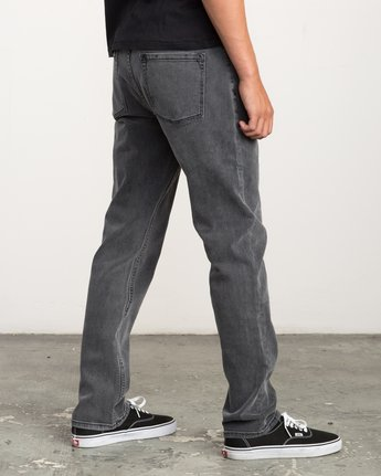4 Stay RVCA Straight Fit Denim Jeans Grey M308QRSR RVCA