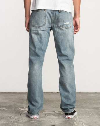 3 Stay RVCA Straight Fit Denim Jeans Blue M308QRSR RVCA
