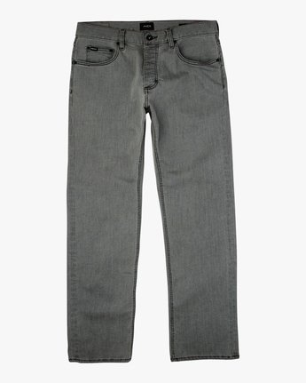 6 Americana Relaxed Fit Denim Jeans Grey M309QRAM RVCA