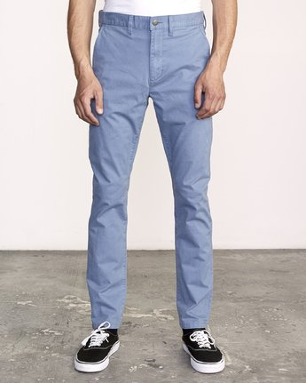 0 Daggers Slim-Straight Chino Pants Blue M309QRDC RVCA