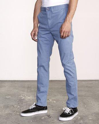 1 Daggers Slim-Straight Chino Pants Blue M309QRDC RVCA
