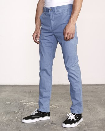 1 Daggers Slim-Straight Chino Pants Blue M309QRDC RVCA