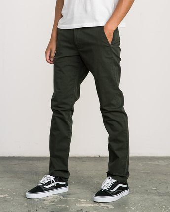 1 Daggers Slim-Straight Chino Pant Camo M309QRDC RVCA