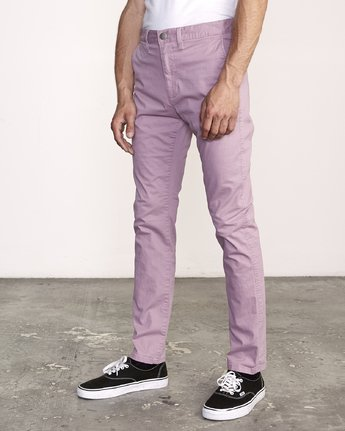 1 DAGGERS SLIM-STRAIGHT CHINO PANTS  M309QRDC RVCA