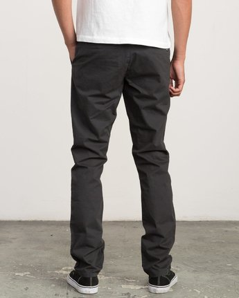 4 Daggers Slim-Straight Chino Pants Black M309QRDC RVCA