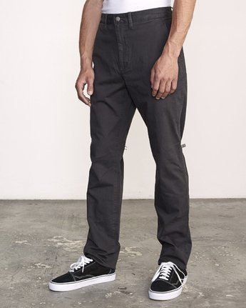 1 Daggers Slim-Straight Chino Pants Black M309QRDC RVCA