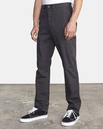 2 DAGGERS SLIM-STRAIGHT CHINO PANTS Orange M309QRDC RVCA