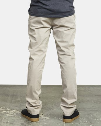 3 DAGGERS SLIM-STRAIGHT CHINO PANTS Purple M309QRDC RVCA