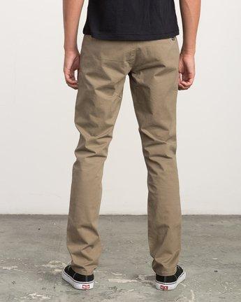 3 Daggers Slim-Straight Chino Pant Beige M309QRDC RVCA