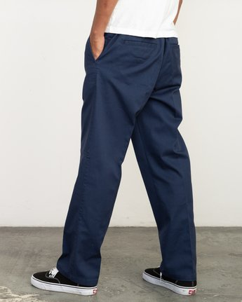 2 Big RVCA Neutral Pants Blue M310QRBR RVCA