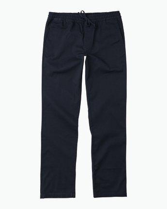 6 A.T. Dayshift Elastic Pant II Blue M310QRDS RVCA