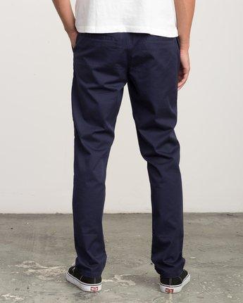 3 A.T. Dayshift Elastic Pant II Blue M310QRDS RVCA