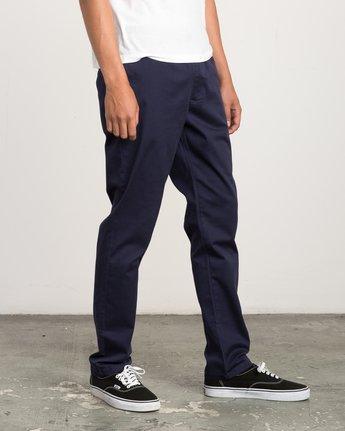 5 A.T. Dayshift Elastic Pant II Blue M310QRDS RVCA