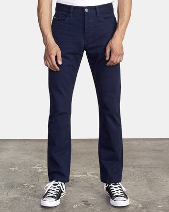 0 WeekEnd 5-Pocket straight fit Pant Blue M310VRWP RVCA