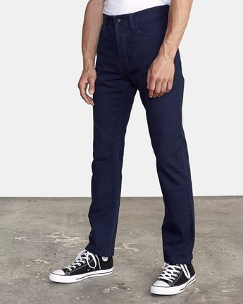 1 week-end 5-Pocket straight fit Pant Blue M310VRWP RVCA