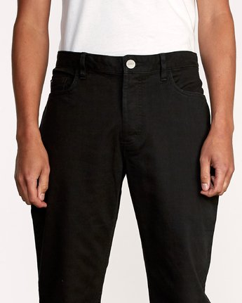 7 WeekEnd 5-Pocket straight fit Pant Black M310VRWP RVCA