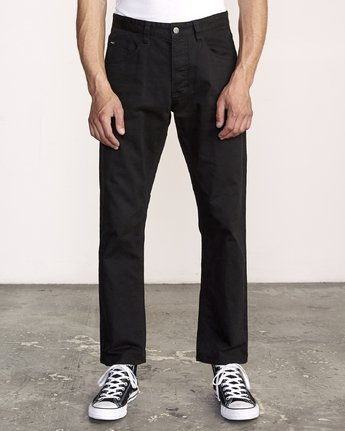 0 week-end 5-Pocket straight fit Pant Black M310VRWP RVCA
