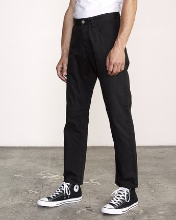 1 WeekEnd 5-Pocket straight fit Pant Black M310VRWP RVCA