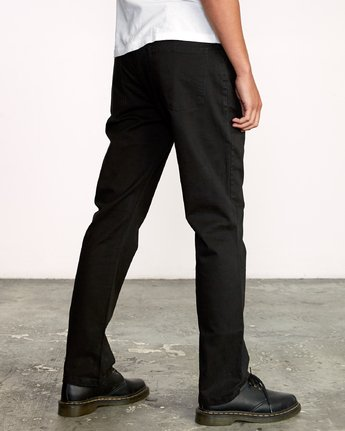 5 week-end 5-Pocket straight fit Pant Black M310VRWP RVCA