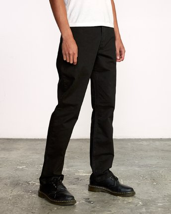 6 WeekEnd 5-Pocket straight fit Pant Black M310VRWP RVCA