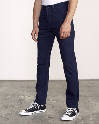 3 week-end 5-Pocket straight fit Pant Blue M310VRWP RVCA