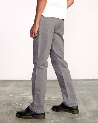 4 week-end 5-Pocket straight fit Pant Grey M310VRWP RVCA